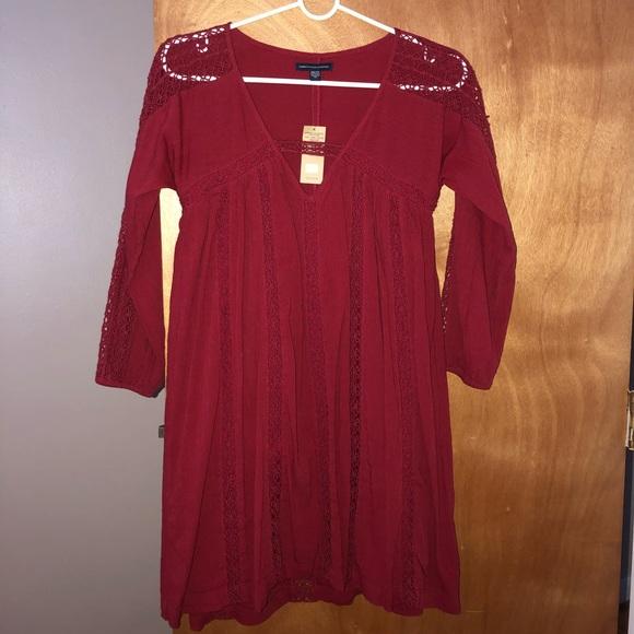 Bohemian lace mini dress
